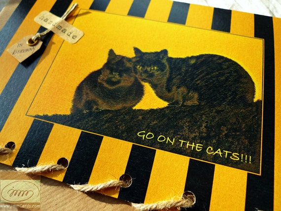 Kilkenny Cats - Personalised Greeting Card Handmade in Kilkenny
