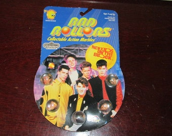 New Kids on The Block Rad Rollers Indoor/Outdoor Collectible Action Marbles 1990s Toy NOS NIB