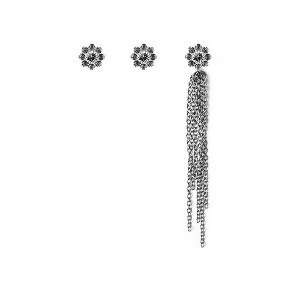 Perfectly Mixmatched. Mix/Match Swarovski Flower Ear Stud Earrings.