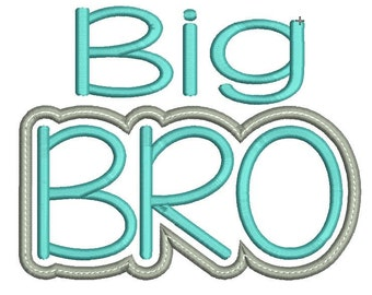 Big Bro Brother Applique Design - INSTANT DOWNLOAD