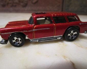 "Vintage 1969, ""Hotwheels"" metallic red,55'' Nomad!"