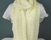 Soft Cable Knit Scarf and Matching Headband Ready to Be Shipped