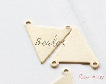 20 Pieces / Raw Brass / Brass Base / Charm / Triangle (C1995//S203)
