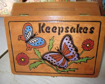 Vintage Decorated Wooden Cigar Box for Your Keepsakes