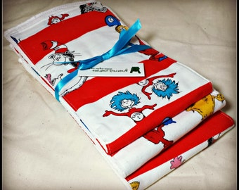 Baby Burp Cloth Set - Dr Suess Themed