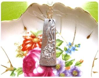 Velma Spoon Necklace, Flower Design, Upcycled, Repurposed, Spoon Jewelry