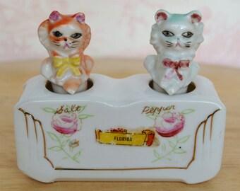 Vintage Cat Nodder Salt and Pepper Shakers Florida Souvenir