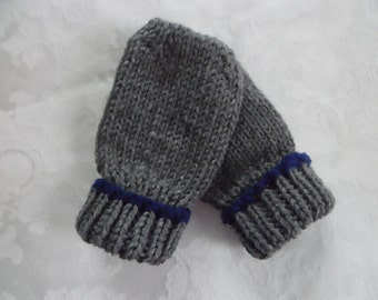 Baby Mittens Thumbless Hand Knit  in Sizes Newborn to 18 Months With or Without Coat String