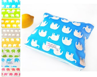 Small Wet Bag Pouch with Waterproof Lining - Elephant (Choose Your Color)