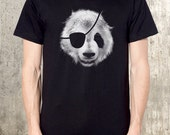 Panda Bear Pirate T-Shirt - American Apparel - All Sizes Available