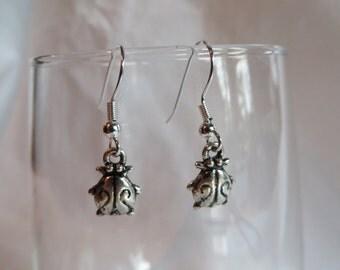 Lady Bug Charm Earrings, earrings, lady bug, charm