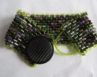 """7 1/4"""" Snakeskin Bracelet with Button Clasp, bracelet, snakeskin, button clasp"""