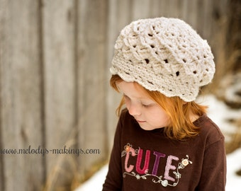 Serenity Slouch Hat Crochet Pattern - Sizes Baby, Toddler, Child, and Adult Included - Instant Digital Download