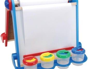 Magnetic Tabletop Easel Kit - Chalkboard Side & Magnetic Dry Erase Board Side - Fully Assembled Easel - Kids Crafts (436396)