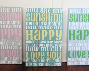 You are my Sunshine sign / Wood Sign / Painted Wood Sign 10.5x16