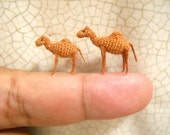 Miniature Camels - Micro Amigurumi Crochet Stuffed Animals - Made To Order