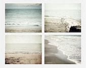 Beach Wall Gallery, Beach Decor, Beach Landscapes, Ocean Art Set, Soft Pastel Decor, Neutral Beach Prints, Beach Photography, Pastel Beach.