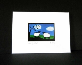 matching clouds   ACEO