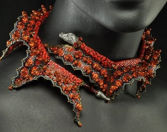 "The ""Fire Dragon"" Wrap Beading Kit (inspired by contemporarygeometricbeadwork.com)"