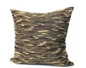 Decorative Black Beige Stripe Throw Pillow Cushion Cover Upholstery Fabric Euro Sham 26x26 24x24 22x22 20x20 18x18 16x16