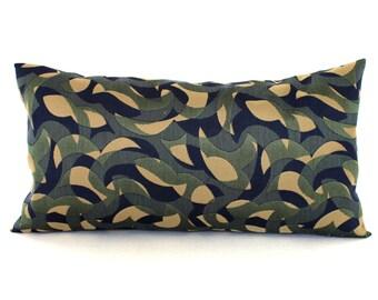 Lumbar Pillow Cover 8x16 Blue Green Pillow Abstract Upholstery Fabric Decorative Pillow Accent Oblong Petite Lumbar Throw Pillow Cover