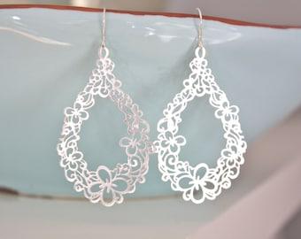 Silver Earrings, Pendant Earrings, Boho Chic, Boho Jewelry, gifts for her, best friend gifts, Boho Earrings, Best Friend Gift, Girlfriend