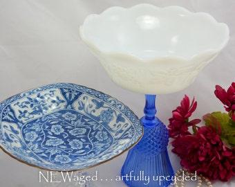 Dessert pedestal stands, candy dish, decorative bowls set of 2