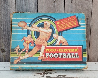 Foto Electric Football Vintage Game Cadaco Ellis Board Game Blue Red Sports Collectible 1950's