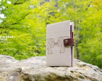 Elephant, Personal organizer, Personal planner, planner, organizer, agenda diary, calendar, monthly, weekly, daily, student, handmade
