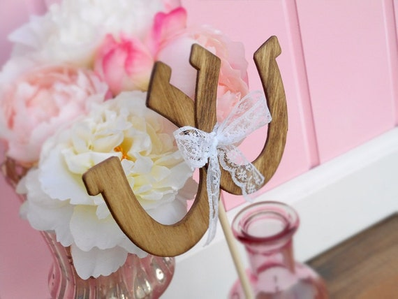 horseshoe wedding cake toppers horseshoe cake topper rustic wedding cake topper wood cake 15319