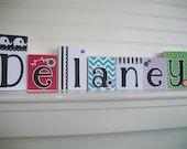 Letter Blocks for Children . Name Blocks .Elephant Nursery .Black and White . Chevron . Modern Nursery .  Baby Name Letters. Personalized