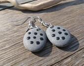 SALE BEACH STONE Earrings Painted Stones