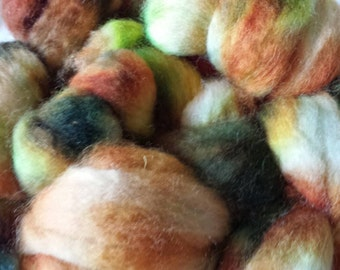 Hand dyed BFL Roving for spinning or felting 4.25 oz