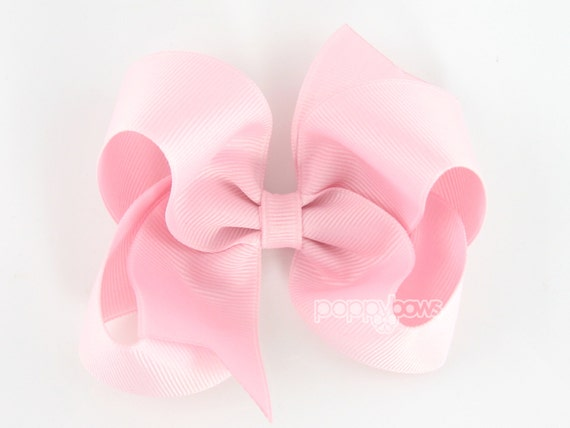 Girls Hair Bows, light pink hair bow, 4 inch hair bows, big hair bows, boutique bows, large hair bows, girl hair bows, toddler hairbow