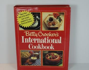 Betty Crocker's International Cookbook - Vintage Cookbook - Betty Crocker's Cookbook - International Cookbook - Betty Crocker - Cookbook