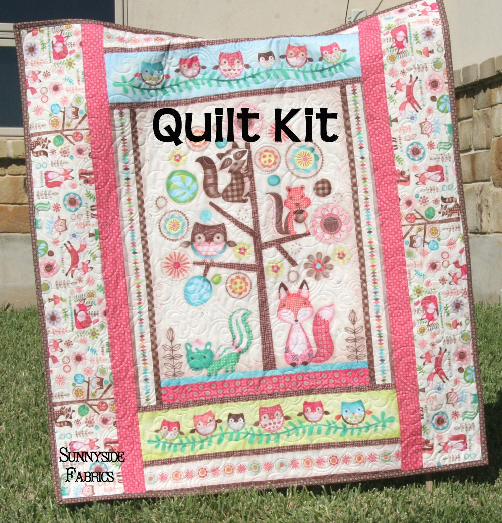 Woodland Girl Quilt Kit Baby Blanket Sewing By