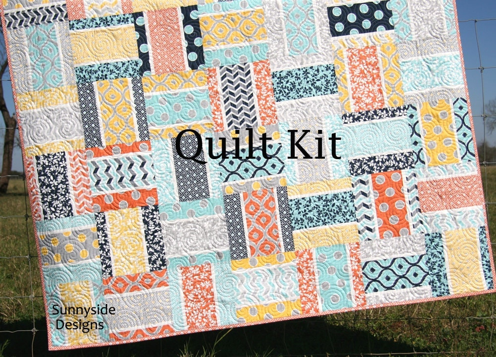Quilt kit mixologie by studio m moda fabrics pinstripe pattern for Quilting material