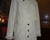 Bohemian Jacket,Upcycled Jacket,Corduroy Jacket,Victorian Jacket,Lacey Jacket,by Nine Muses Of Crete