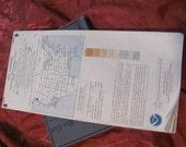 Vintage Aviation Pilot's Sectional Flight Plan Map FAA - 1986 Los Angeles
