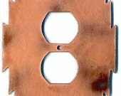 "CopperCutts Heat Treated Copper 4.25"" x 6"" Outlet Cover"