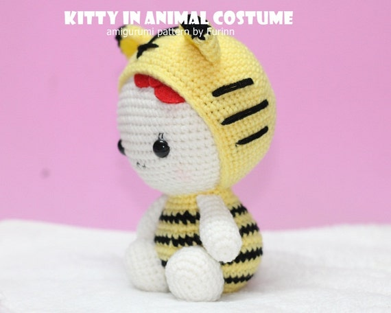 INSTANT DOWNLOAD PDF Pattern: Kitty in Tiger Costume ...