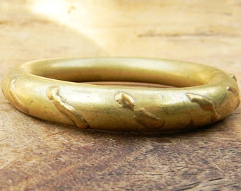 Antique Ethnic Bangle Brass Bracelet