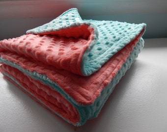 DOUBLE Sided Minky Deluxe Crib Blanket - MORE Colors available