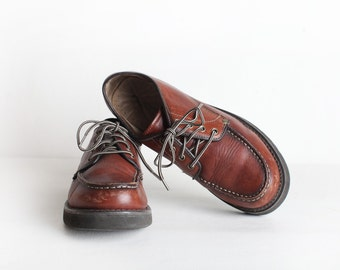Vintage Men's Size US 11/ EU 44 12 Brown Leather Oxfords