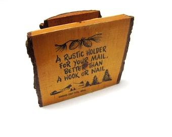 Vintage Wood Letter Holder Grand Canyon Souvenir