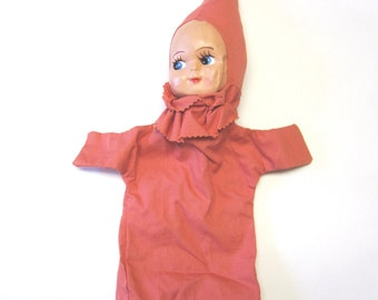 Vintage Puppet Girl Baby Doll 1950s
