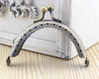 6.5cm(2.56inch) antique bronze sewing metal purse bag frame A014