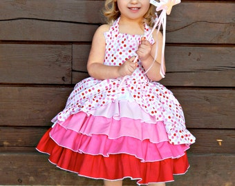 girls pink parfait party dress