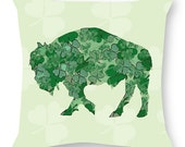 Shamrock Pillow by Alison Kurek St. Patrick's Day Irish Buffalo hand sewn pillow invisible zipper