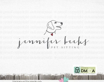 Dog Logo  Premade Logo Logos with dogs Pet logo design dog walking logo dog sitting logo dog sitting logo pet logo canine logo  veterinarian